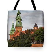 Wawel Royal Castle In Krakow Tote Bag
