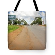 Welcome Sign To Lilongwe In Malawi. Tote Bag
