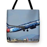 Westjet Boeing 737-8ct C-gwsz Magic Plane Phoenix Sky Harbor January 22 2016 Tote Bag