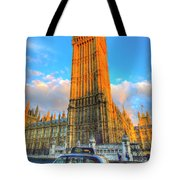 Westminster Bridge And Taxi Tote Bag