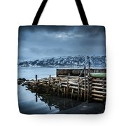Wharf In Norris Point, Newfoundland Tote Bag
