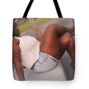 White And Jeans Tote Bag