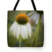 White Coneflower Tote Bag