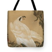 White Eagle Eyeing A Mountain Lion Tote Bag