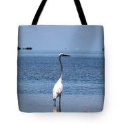 White Heron In The Keys Tote Bag