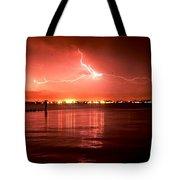 White Lightning Tote Bag
