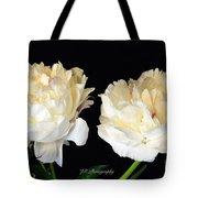 Peonies In Cream Tote Bag