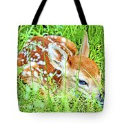 White-tailed. Virginia Deer Fawn Tote Bag
