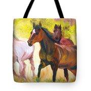 Wild Horses Running Tote Bag