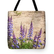 Wild Lupine Flowers Tote Bag