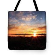 Willard Bay Sunset Tote Bag