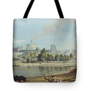 Windsor Castle From The Eton Shore Tote Bag