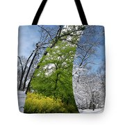 Winter And Summer Tote Bag