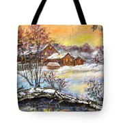 Winter Evening. Tote Bag