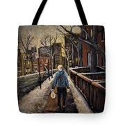 Winter In The City Tote Bag