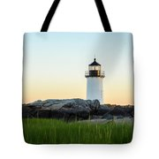 Winter Island Lighthouse, Salem Ma Tote Bag