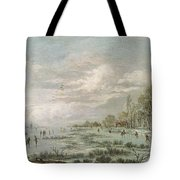 Winter Landscape Tote Bag by Aert van der Neer