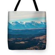 Winter Sangre De Cristo Mountains Tote Bag