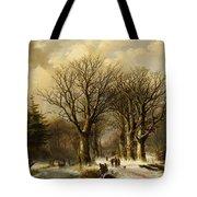 Winter Scene In Reichswald Tote Bag