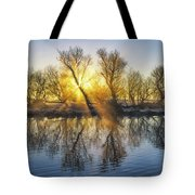 Winter Sunrise Over The Ouse Tote Bag