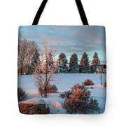 Winter Sunset In Weyburn Tote Bag