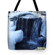 Winter Waterfall Tote Bag