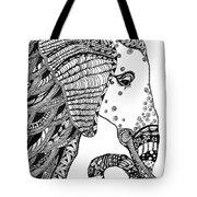 Wise Elephant Tote Bag by Barbara McConoughey