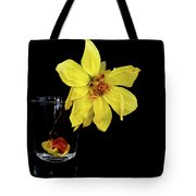 Withered Lifeless Dahlia Flower Tote Bag