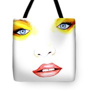 Woman Scent Watercolor Painting Tote Bag