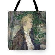 Woman Seated In A Garden Tote Bag