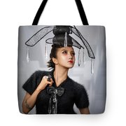 Woman With Chandelier Headdress Tote Bag