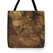 Woman With Dove Tote Bag