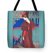 Woman With Peacocks Tote Bag