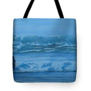 Women In The Surf Tote Bag