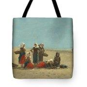 Women On The Beach At Berck Tote Bag