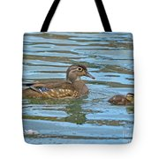 Wood Duck And Baby Tote Bag