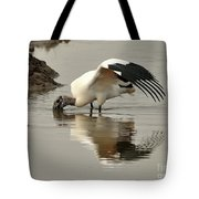 Wood Stork Winging It Tote Bag