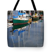 Wooden Ships On The Water Tote Bag