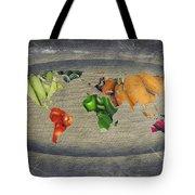 World Fruits Vegetables Map Tote Bag