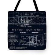 Wright Bros Flyer Aeroplane Blueprint  1903 Tote Bag