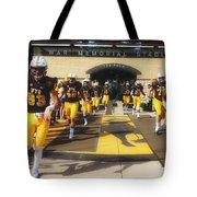 Wyoming Cowboys Entering The Field Tote Bag