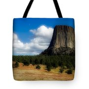 Wyoming's Devil's Tower Tote Bag