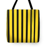 Yellow And Black Stripes Tote Bag
