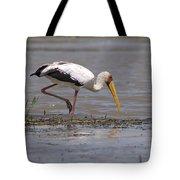 Yellow Billed Stork Tote Bag