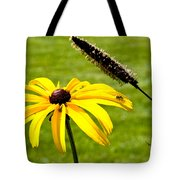 1 Yellow Daisy 2 Yellow Bugs Tote Bag