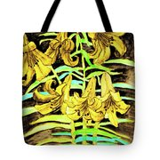 Yellow Lilies, Hand Drawn Painting Tote Bag