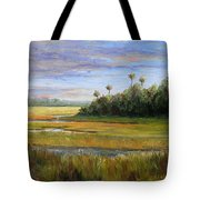 Yellow Marsh Tote Bag