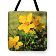 Yellow Wildflowers In A Field Tote Bag