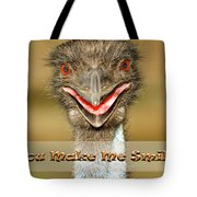 You Make Me Smile Tote Bag