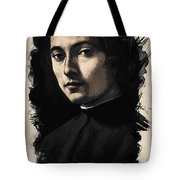 Young Faces From The Past Series By Adam Asar, No 9 Tote Bag